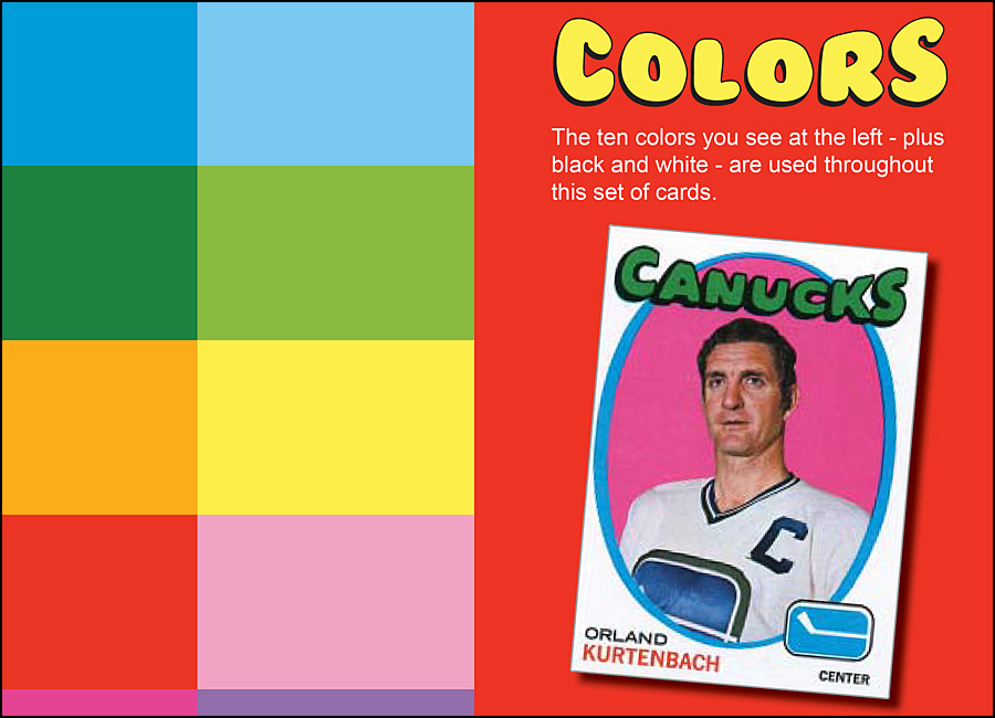 1971-72 Topps Hockey design analysis